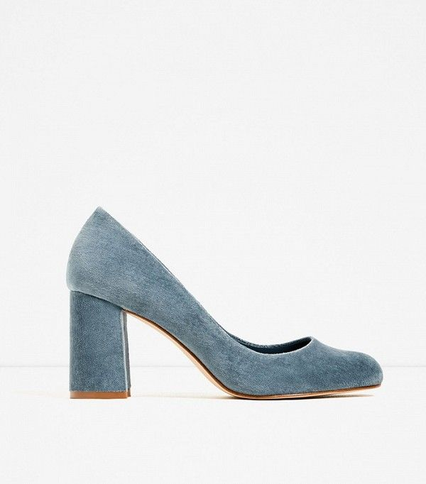 Zara Velvet High Heel Shoes