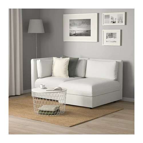 VALLENTUNA Modular loveseat with storage, Murum white