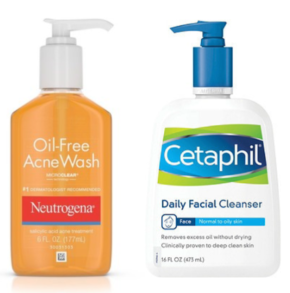 Neutrogena Cetaphil Facial Cleanser Oil Free Acne Daily Skin Cleanser Products Simple Skincare Routine Simple Skincare