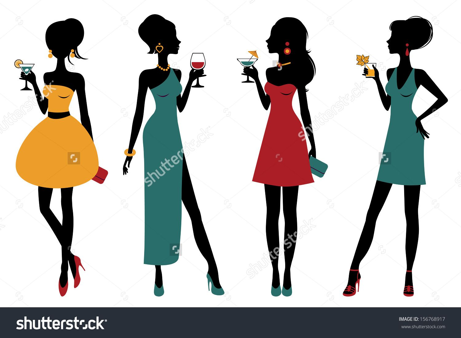 image result for girl with cocktail silhouette poster ideas rh pinterest com Girl Clip Art Popular Girl Clip Art