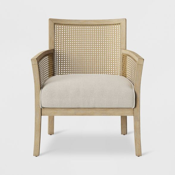 Laconia Caned Accent Chair Beige Threshold In 2020 Turquoise
