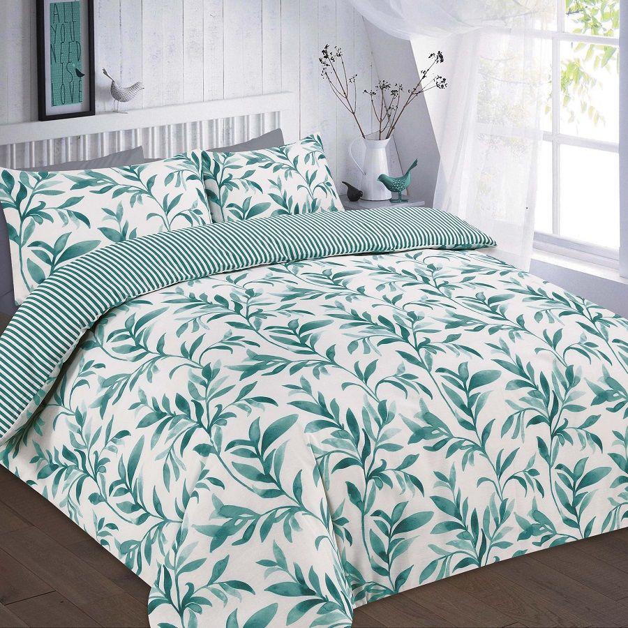 Ellie floral duvet quilt cover bedding set teal in home