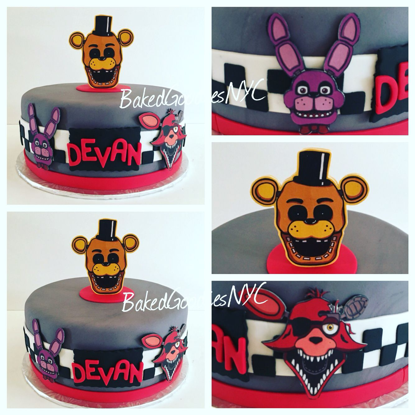Ideas five nights at freddy party - Five Nights At Freddy Cake