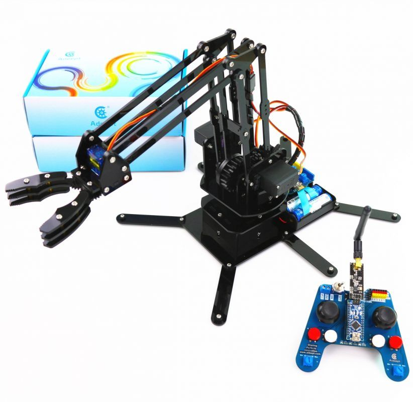 Arduino Compatible Robotic Arm Kit Based on Arduino UNO R3 | Drones