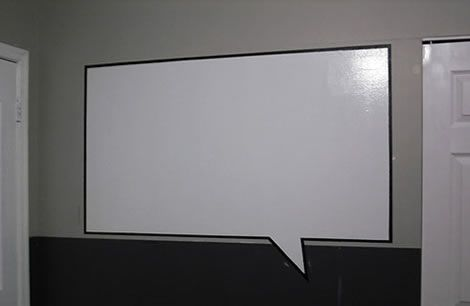Whiteboard Selber Bauen whiteboard upcycled to blackboard with stencilling this would be