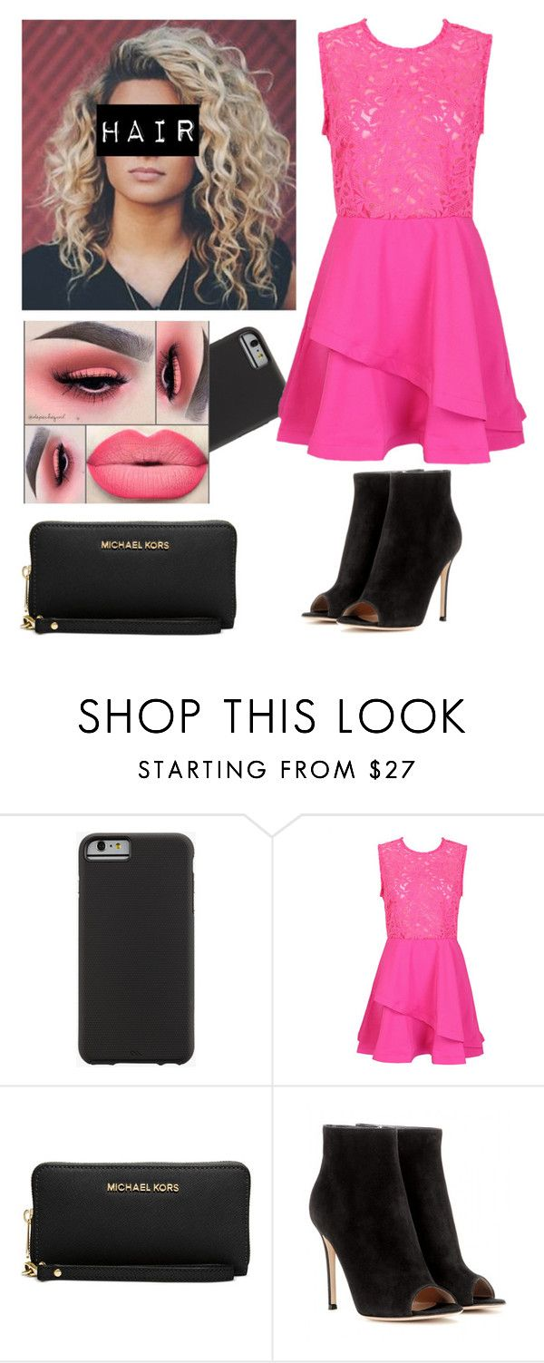"""Untitled #564"" by hannahxoxogebara ❤ liked on Polyvore featuring Case-Mate, Michael Kors and Gianvito Rossi"