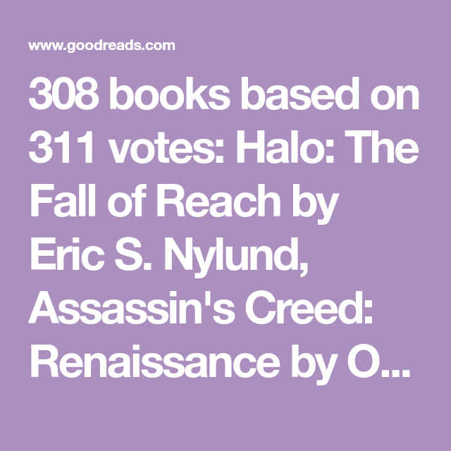 308 Books Based On 311 Votes Halo The Fall Of Reach By Eric S
