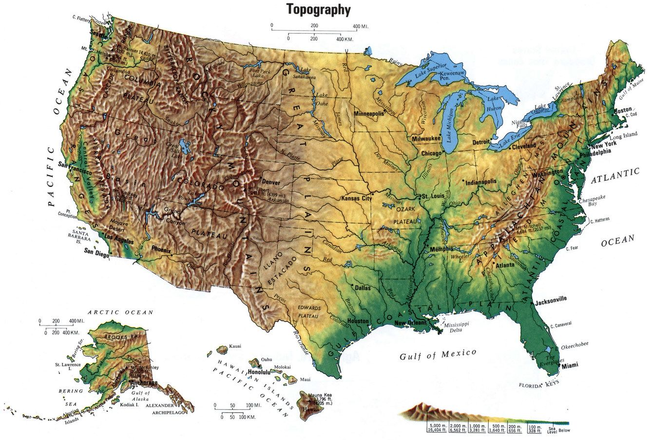 Eastern Us Elevation Map Globe Topographic Map East Coast