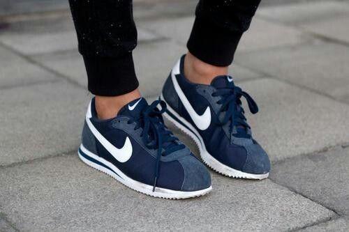 Nike Cortez Navy | Nike shoes women, Nike free shoes, Nike shoes ...