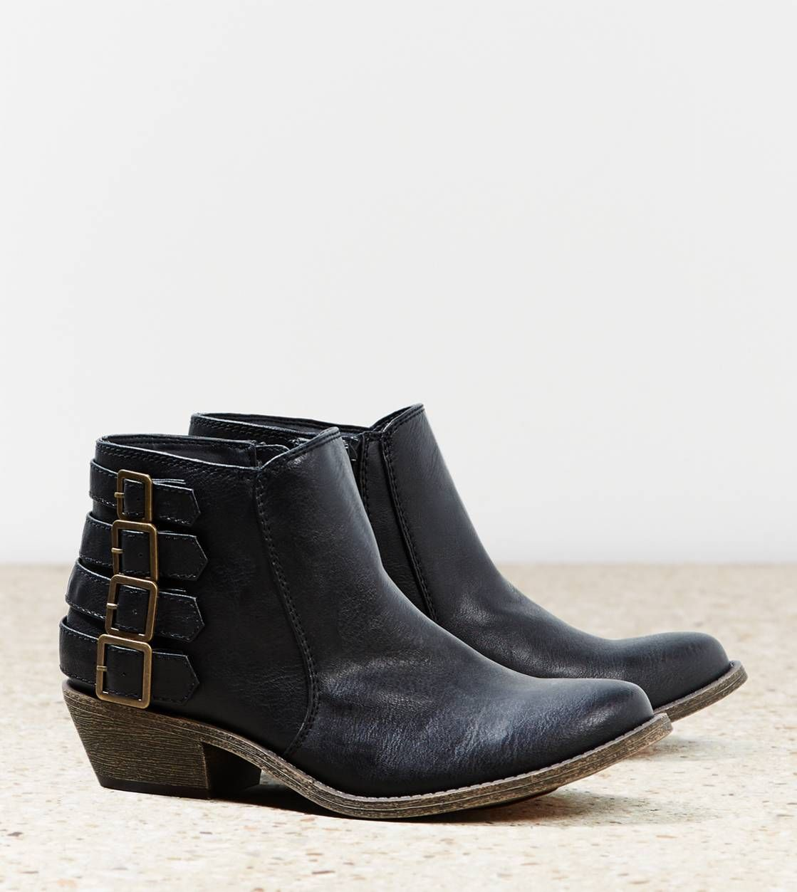 AEO Buckle Bootie | Black ankle boots and Aeo