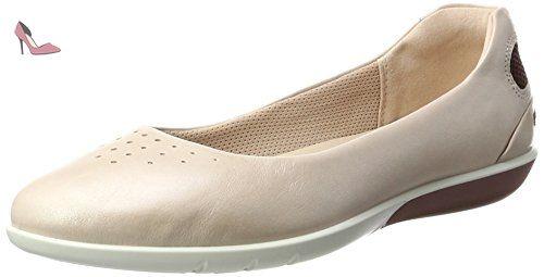 Ecco Damara, Mocassins Femme, Blanc (2152SHADOW White), 41 EU