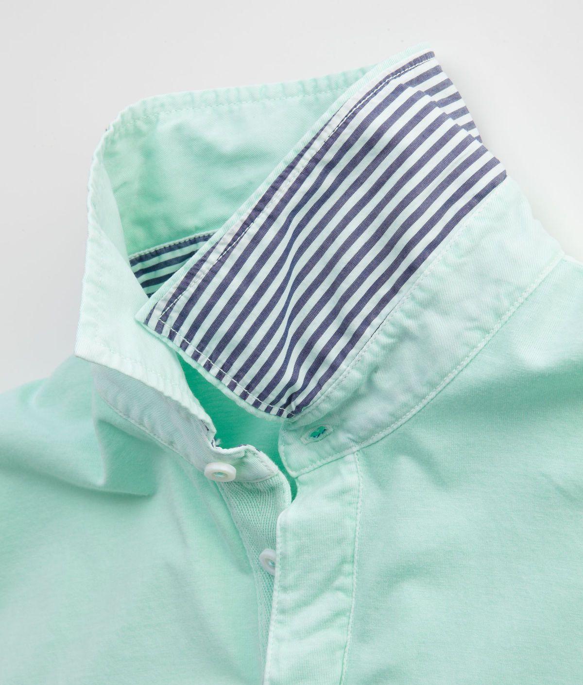 Mint Oxford, striped collar