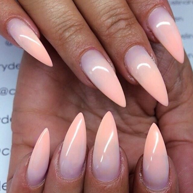 Pink Purple Ombre Nails Pointy Nails Stiletto Nails Designs