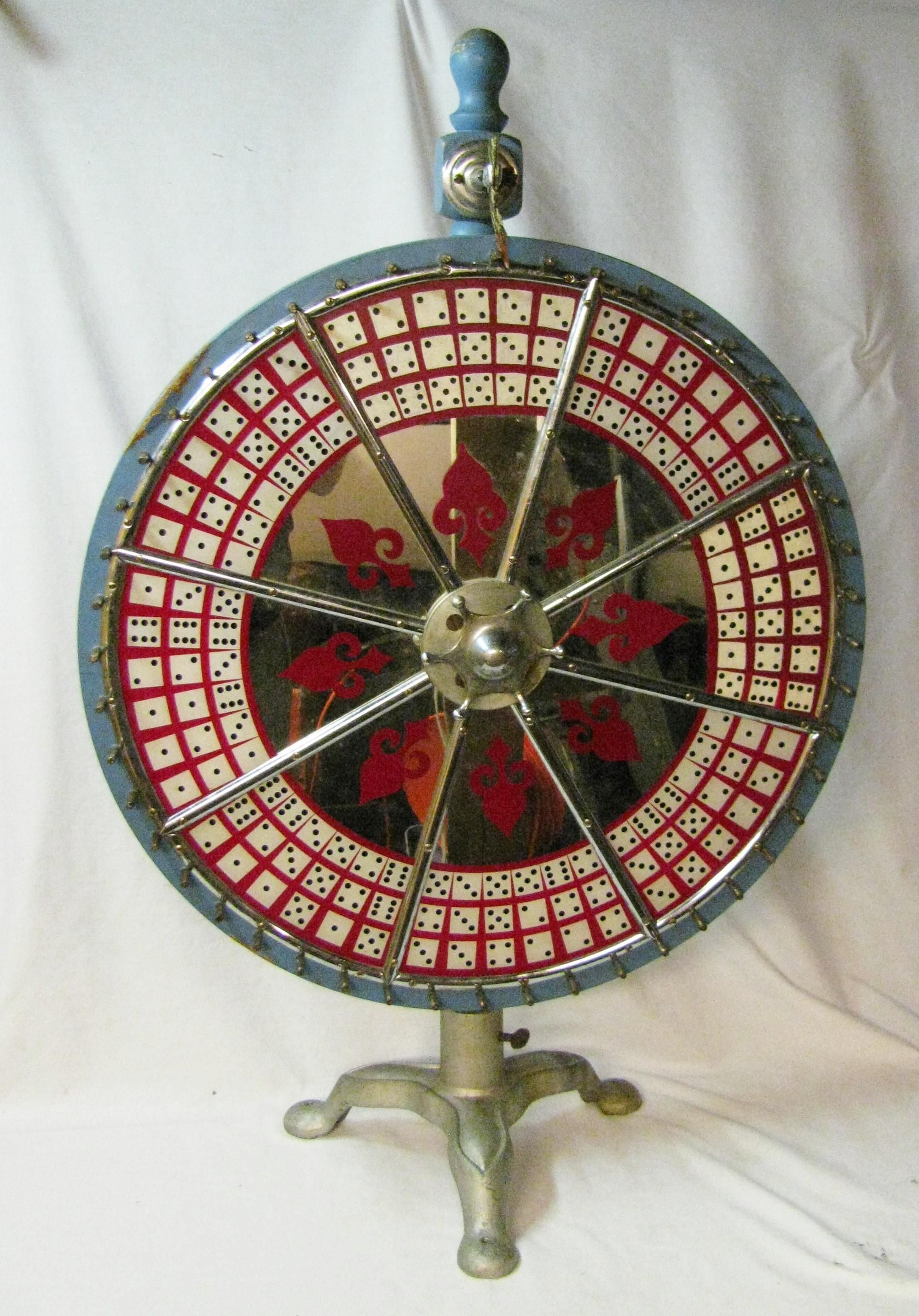 Vintage Dice Carnival Game Wheel Table Top Gambling