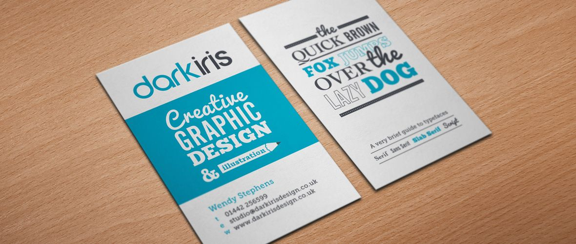Freelance Graphic Designer Dark Iris Portrait Business Card