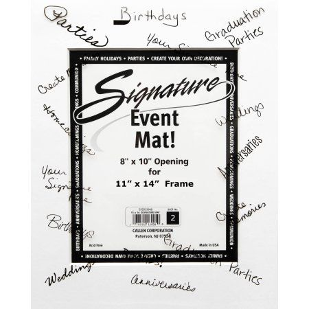 Callen Photo Mat Signature Event Mat 11 x 14 perfect for 8 x 10 ...