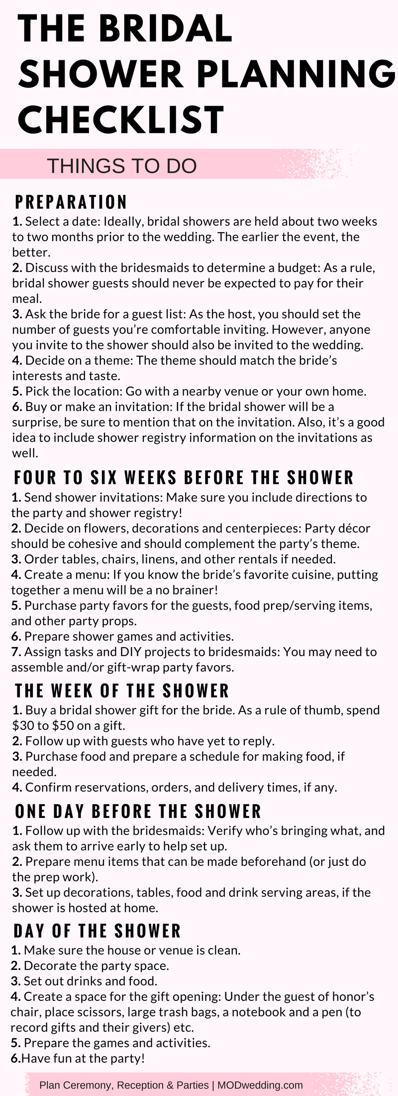 hosting a bridal shower can be fun but it can also be a little nerve racking follow these tips and checklist planner to make it easy