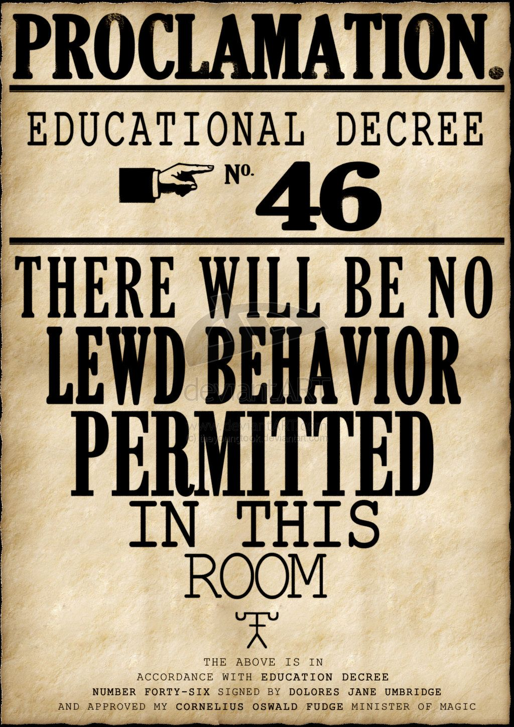 Harry Potter Educational Decree Poster