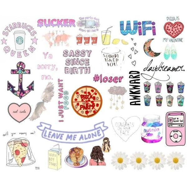 collage stickers tumblr - Buscar con Google