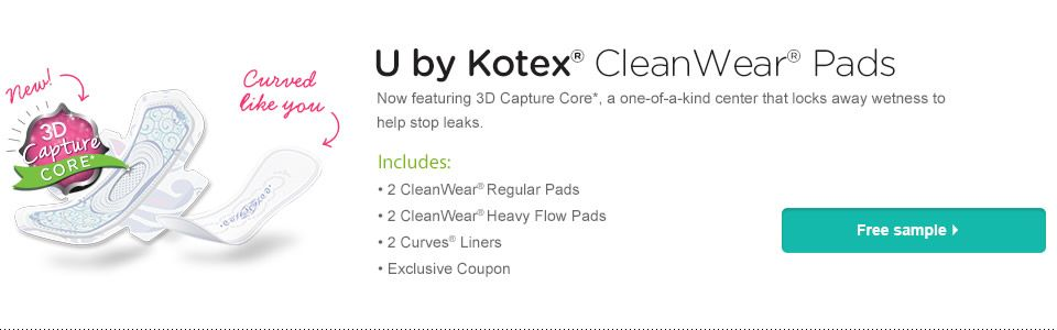 FREE SAMPLE FROM KOTEX U Kotex, Free samples, Sample packs