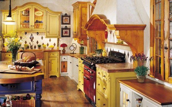 Gele Keuken 9 : Cozinhas americanas rusticas dicas fotos 9 rustico pinterest