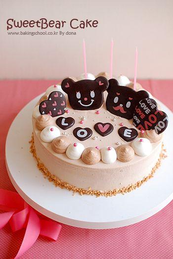 ケーキ 러블리스윗베어 케이크♡