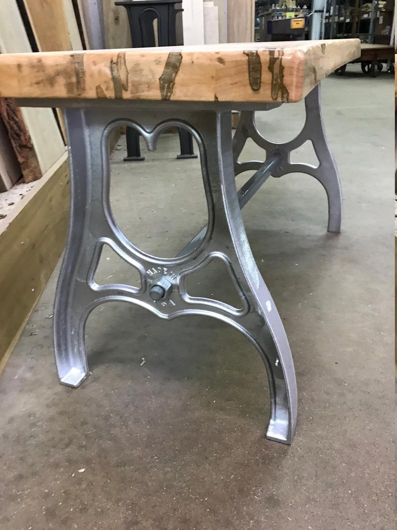1 Pair Cast Aluminum Coffee Table Bench Legs 16 Or Etsy Coffee Table Bench Aluminum Coffee Table Industrial Table