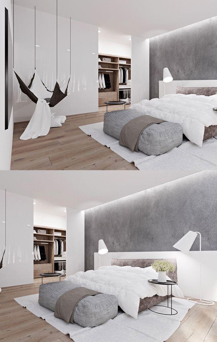Homedesign: (über 20 helle weiße Schlafzimmer für Ruhe und Entspannung #bedroomdesignminimalist