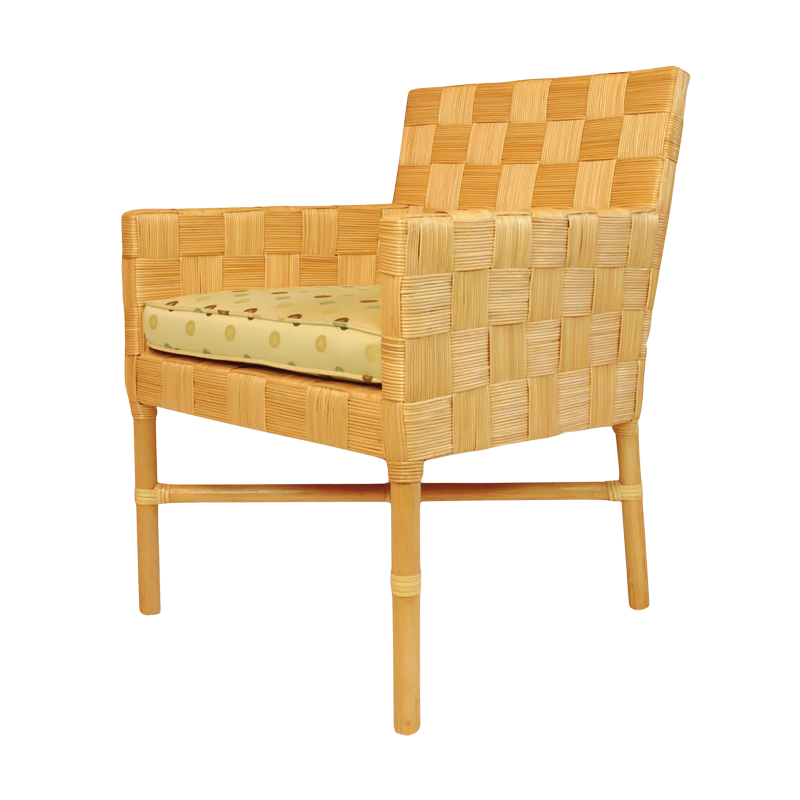 The Carmel Arm Chair.  Rattan, from Walters Wicker Interior Collection.