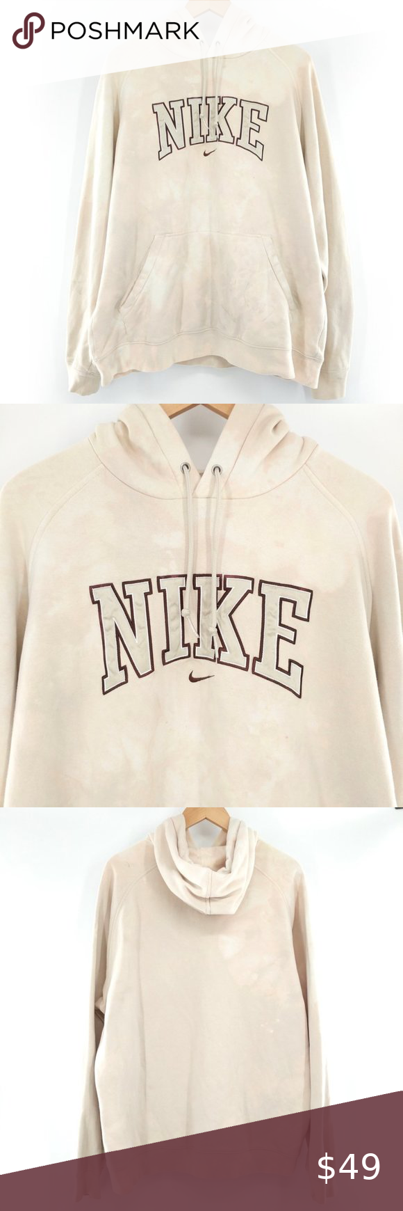 Nike Bleached Distressed Tie Dye Pullover Hoodie Pullover Hoodie Pullover Sweatshirt Shirt [ 1740 x 580 Pixel ]