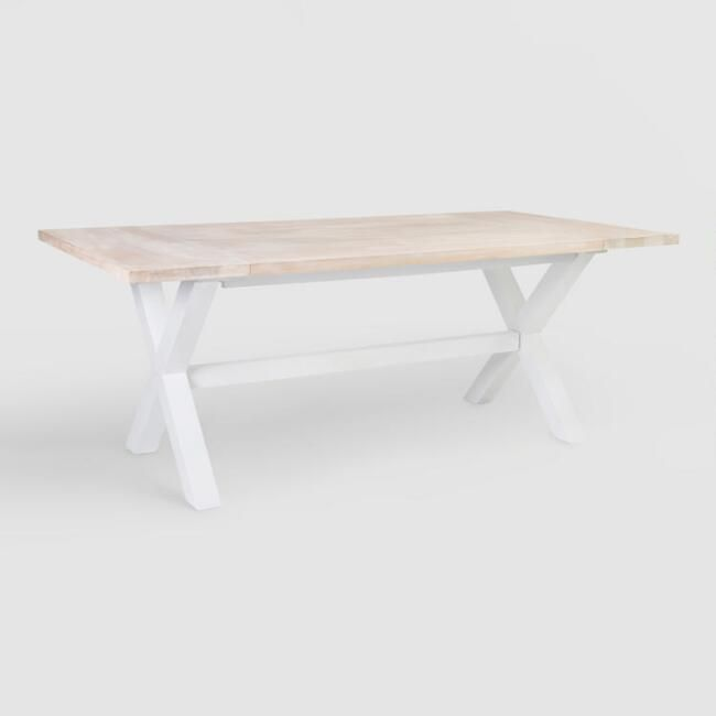 White Wood Orrin Dining Table Whitewash Dining Table Wood
