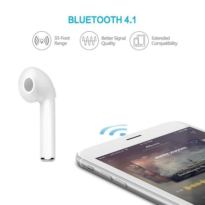 2bdb8c06a9e HBQ I7 Wireless Earphone Bluetooth Headset In-Ear Invisible Earbud with Mic  for iPhone 7 plus 7 6 6s 5 5s Samsung S8 Xiaomi Price: 15.10 & FREE  Shipping # ...