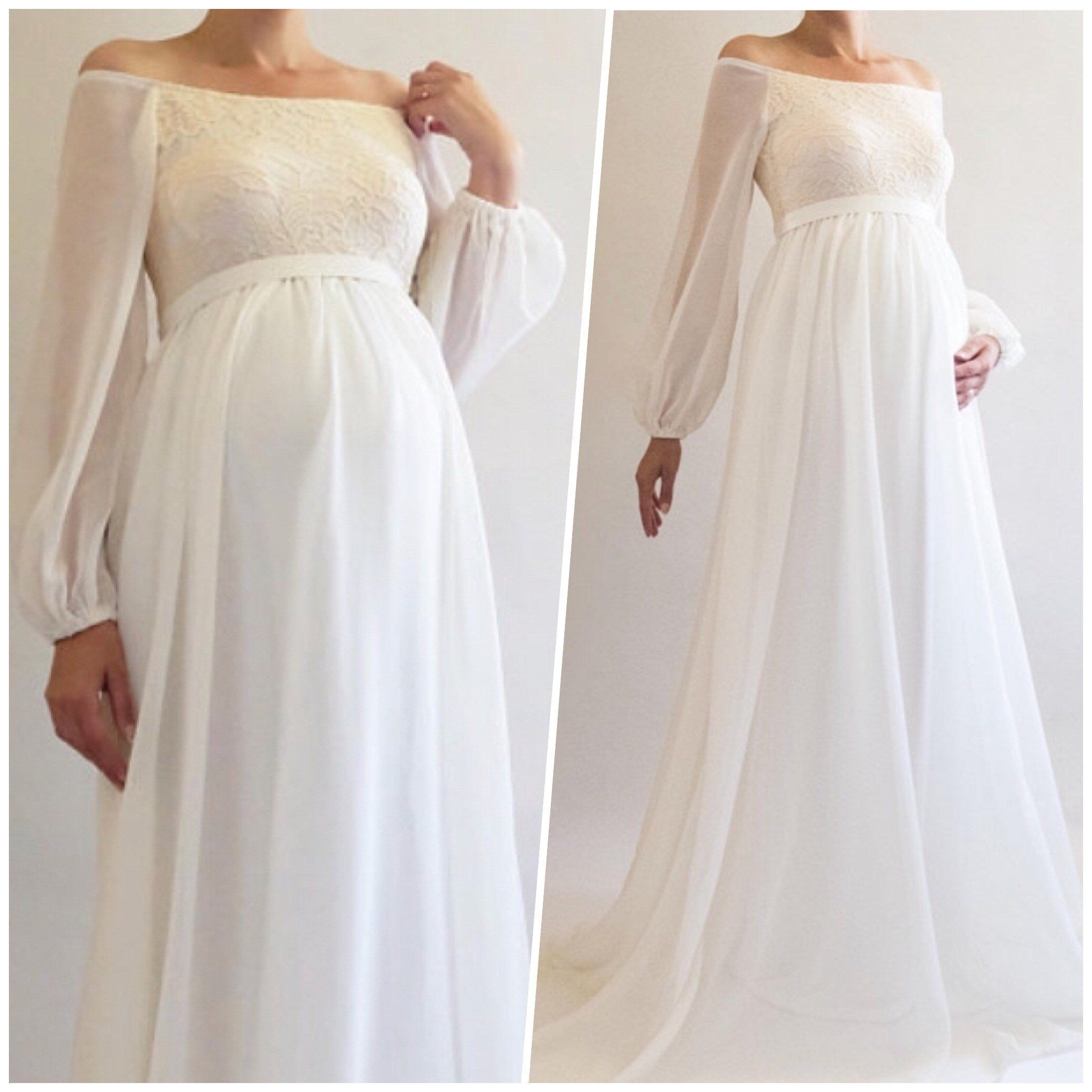 white lace maternity dress boho