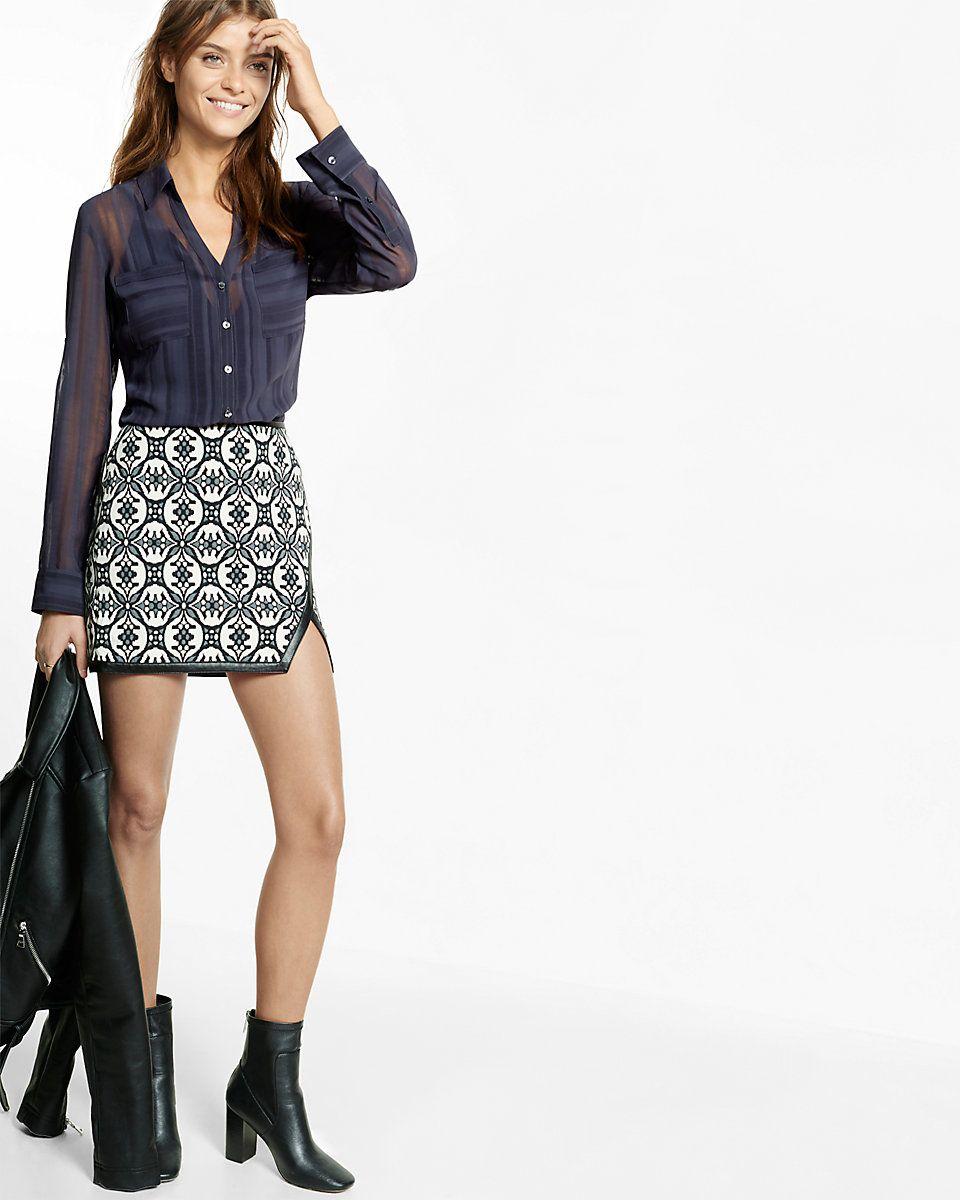 Slim Fit Sheer Stripe Portofino Shirt Women's   Architecture, The ...