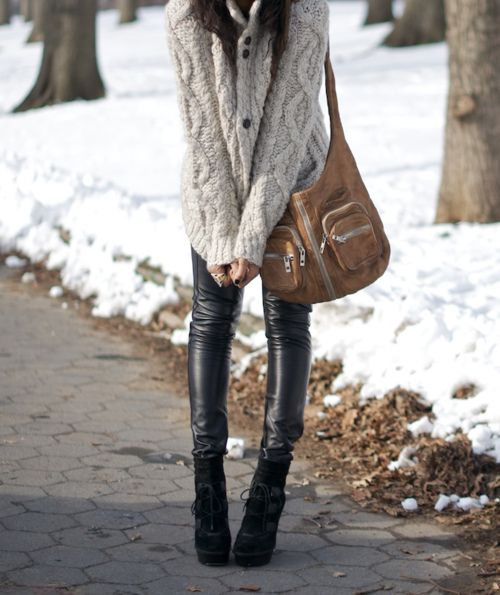 Perfect winter look.