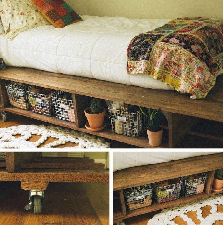 bett selber bauen 12 einmalige diy bett und bettrahmen ideen betten bauen pinterest. Black Bedroom Furniture Sets. Home Design Ideas