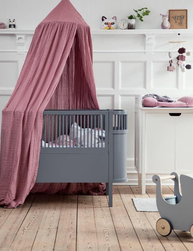Lit barreau – lit bébé – lit barreau bois – lit bébé gris – WOBO ...