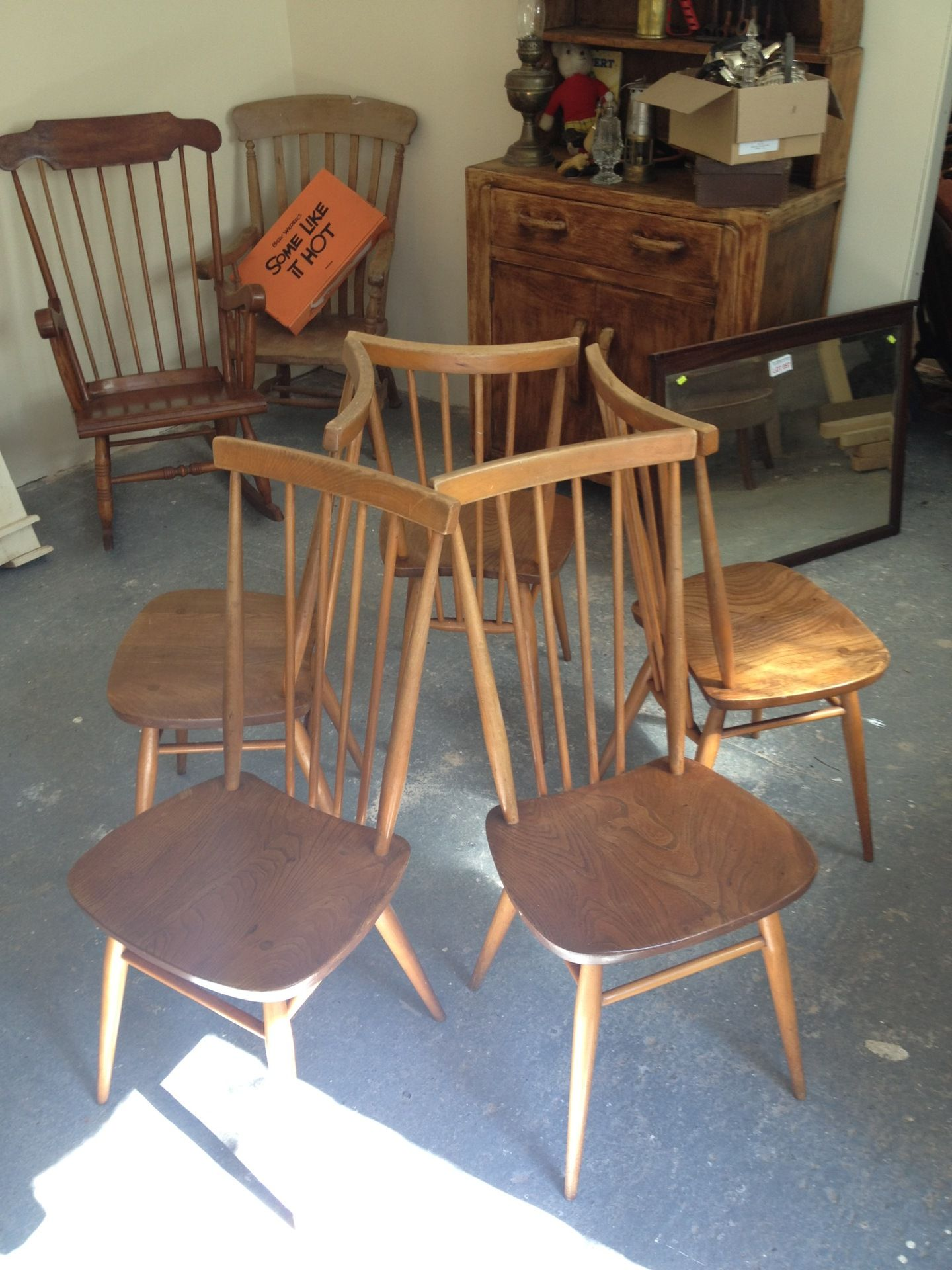 blonde ercol table and chairs for sale £250 Chairs for