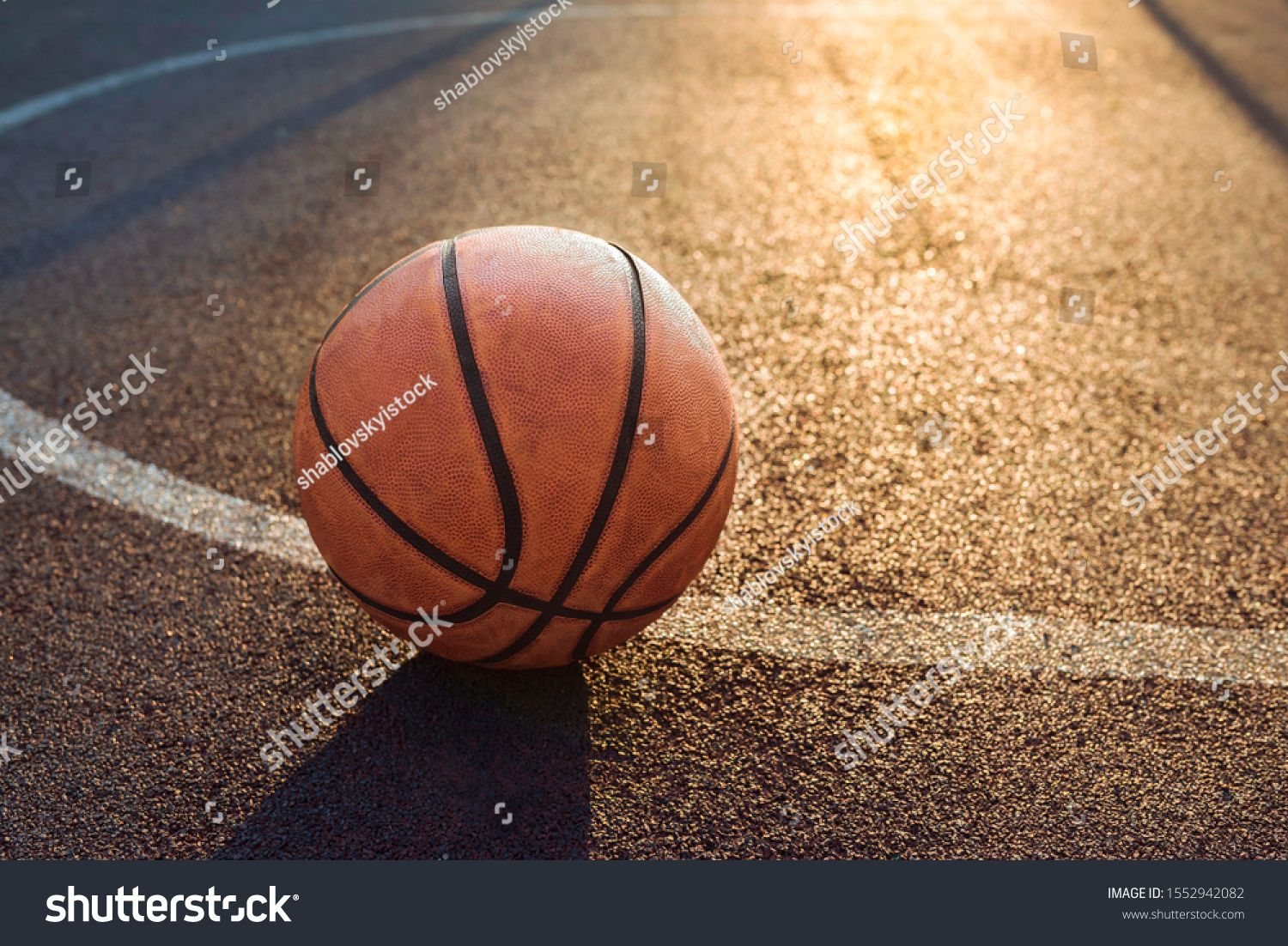 Basketball Ball On Sports Field Healthy Royalty Free Image Photo In 2020 Basketball Ball Sports Basketball