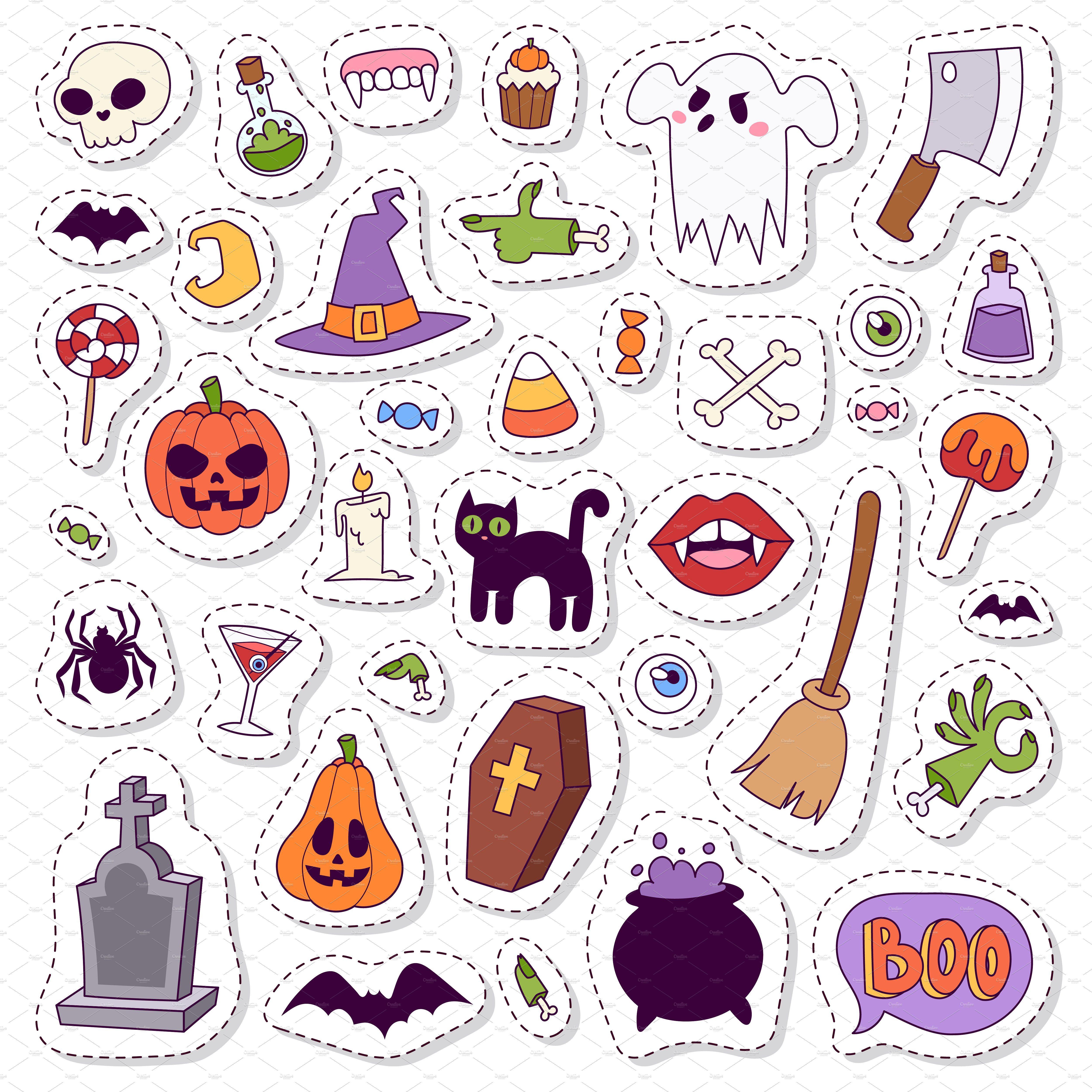 Halloween symbols vector collection Halloween symbols