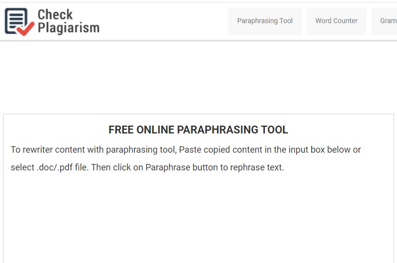 With The Help Of Our Online Paraphrasing Tool You Can Create New Fresh Content Don T Need To Pay Paraphrase Meaning Sentence Check For Plagiarism