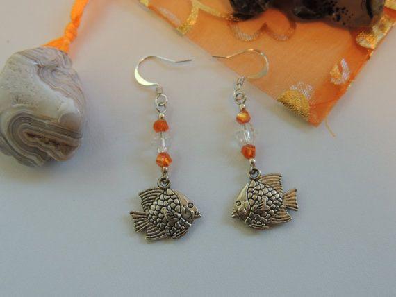 Tropical Fish Sealife Dangle Charm Earrings. by pnljewelrydesigns, $7.00