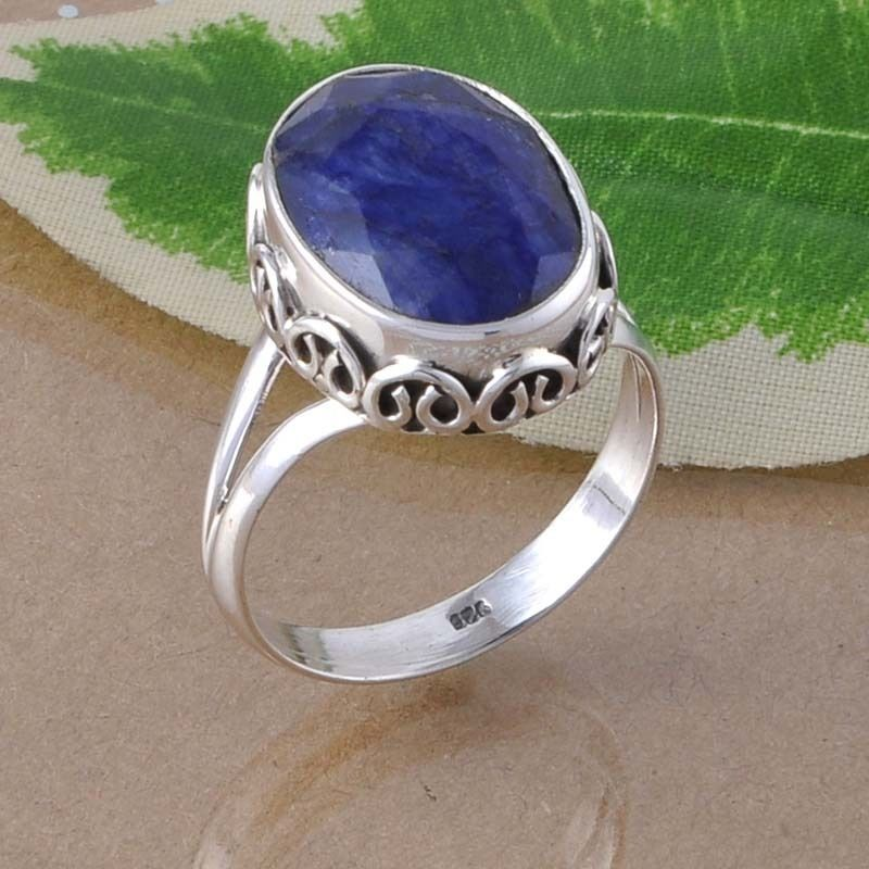 HOT DESIGN 925 STERLING SILVER SAPPHIRE FANCY RING 6.51g DJR2546 SIZE 10.5 #Handmade #Ring
