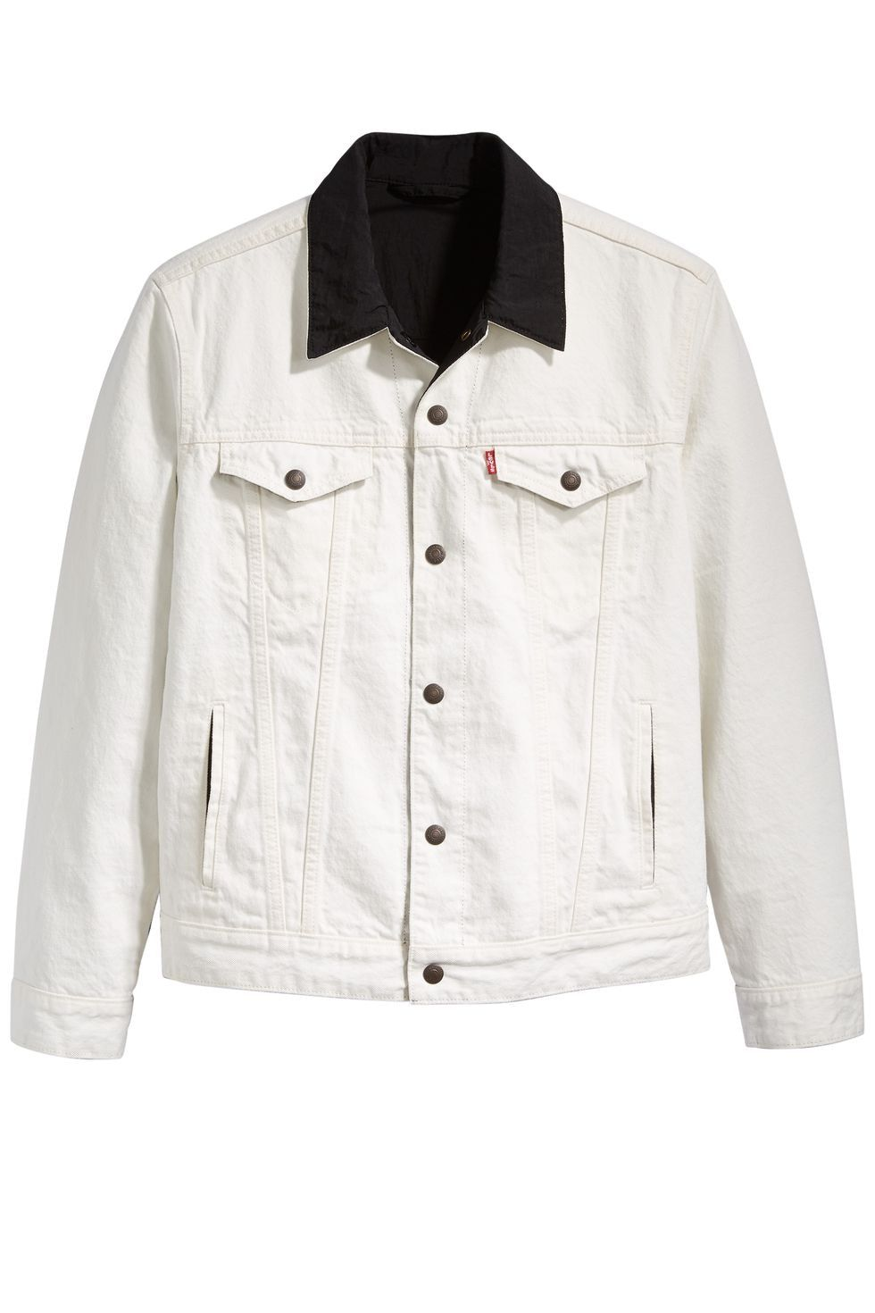 0b63e699d0c Check out the Air Jordan x Levis Reversible Trucker Jacket White/Black  available on StockX
