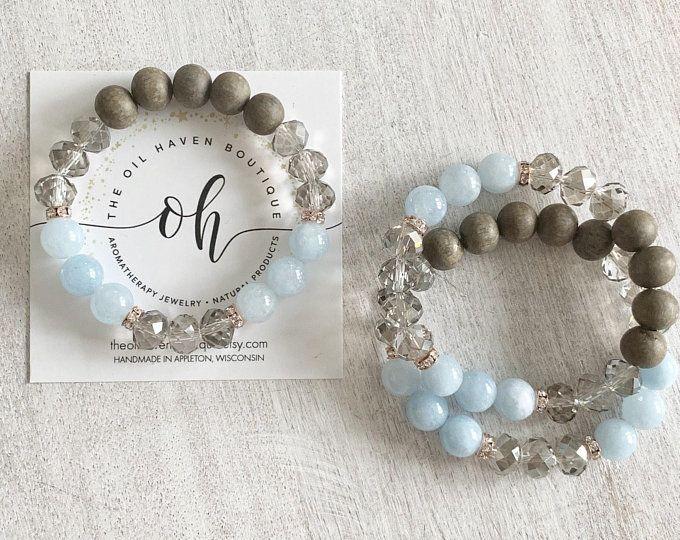 Starry Amazonite ~ Aromatherapy ~ Essential Oil ~ Diffuser Bracelet ~ Beachy ~ Boho Chic ~ Gemstone #gemstonejewelry