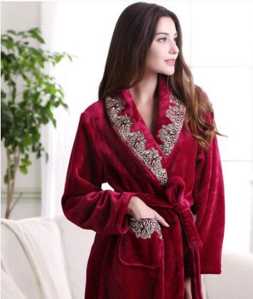 d96b1b551a7 Peignoir épais rouge pour femme en 2019