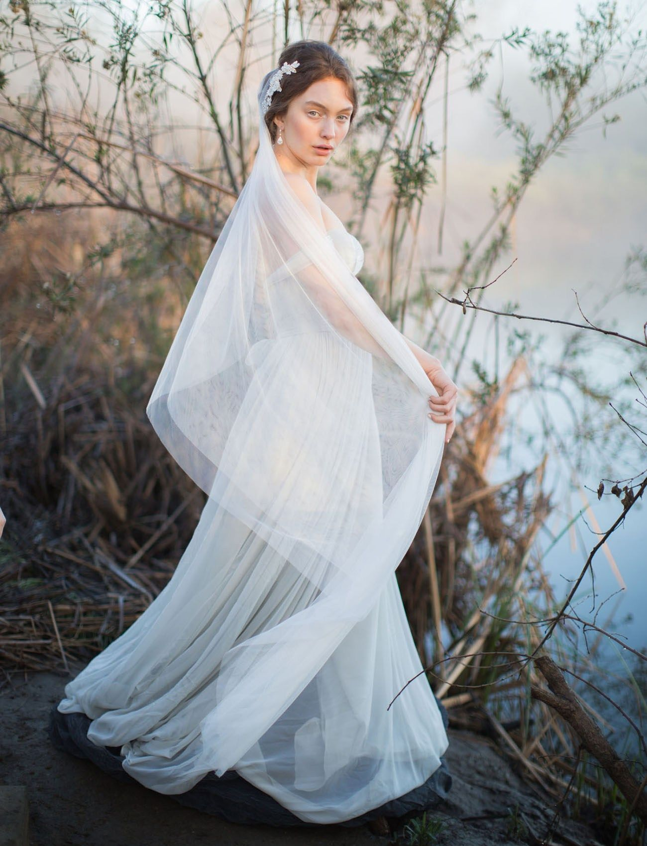Inspired by nature blue heron wetland wedding inspiration blue