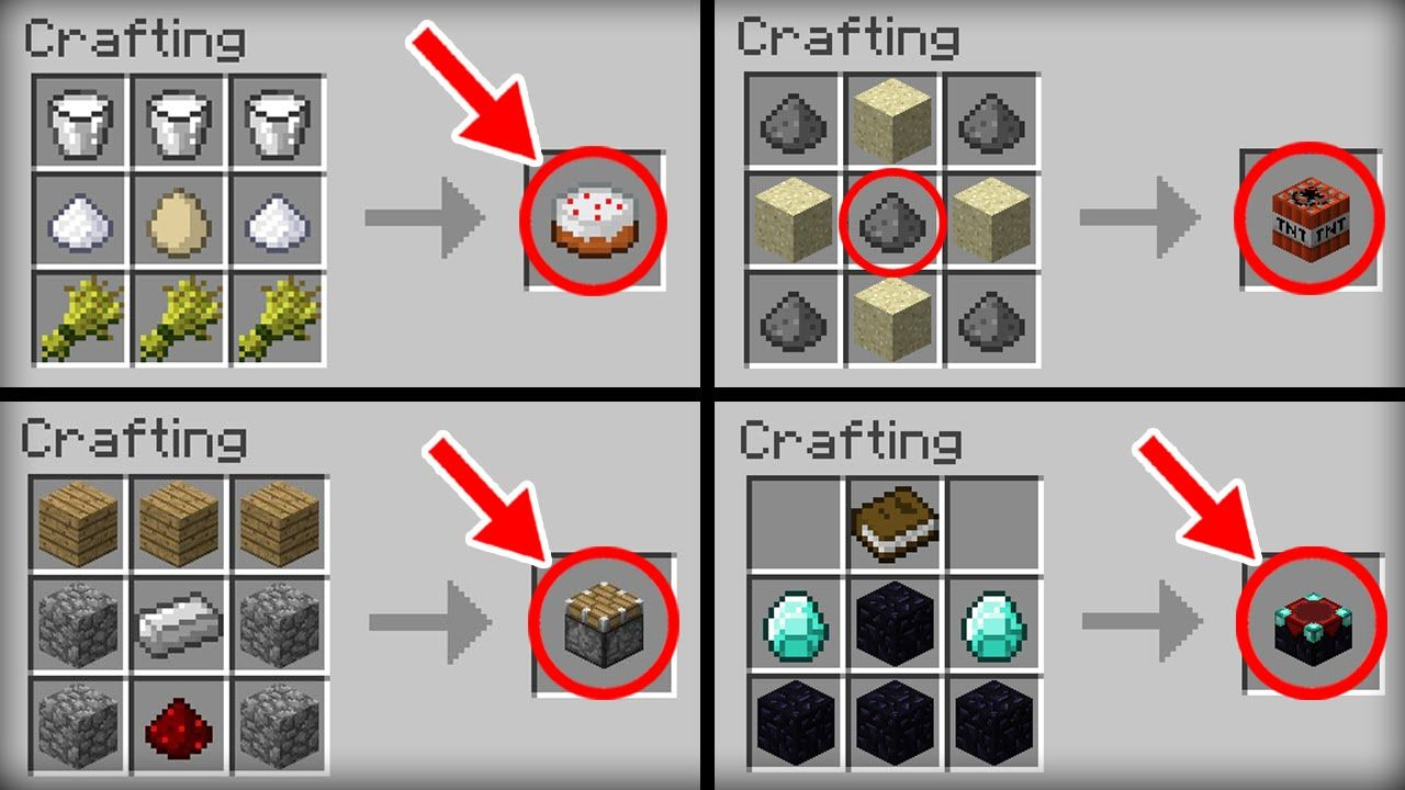 Minecraft 10 crafting recipes we all crafting