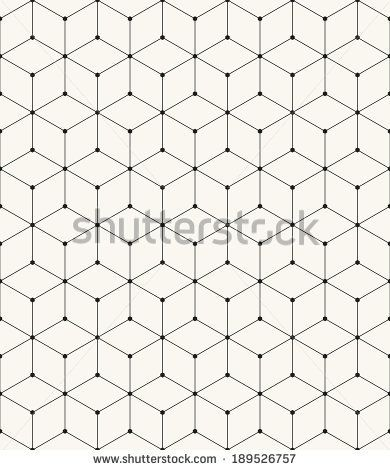 Vector seamless pattern. Modern stylish texture. Repeating geometric background with rhombus and nodes from hexagon - stock vector