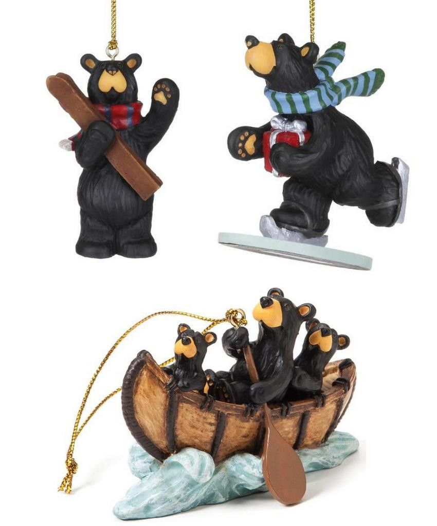 Sports christmas ornaments - Big Sky Carvers Bear Christmas Ornaments Winter Sports Canoe